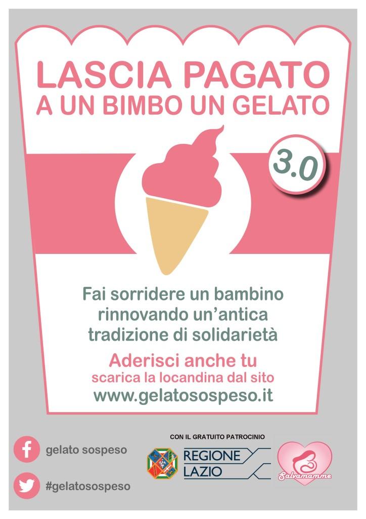 Gelato Sospeso A4 Lascia pagato un gelato REG