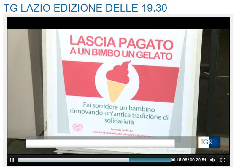 Gelato sospeso sul Tg3 Lazio